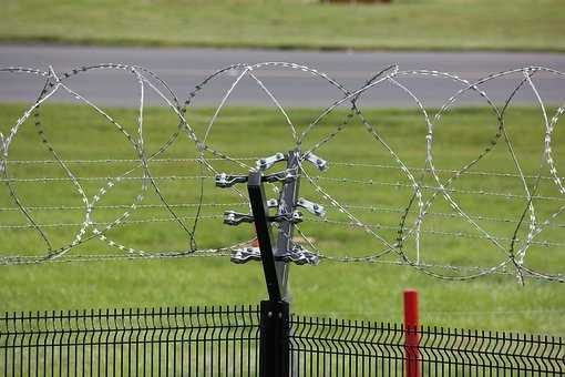 Electric Fence, Wire, Barbed, Security, Barrier, Power