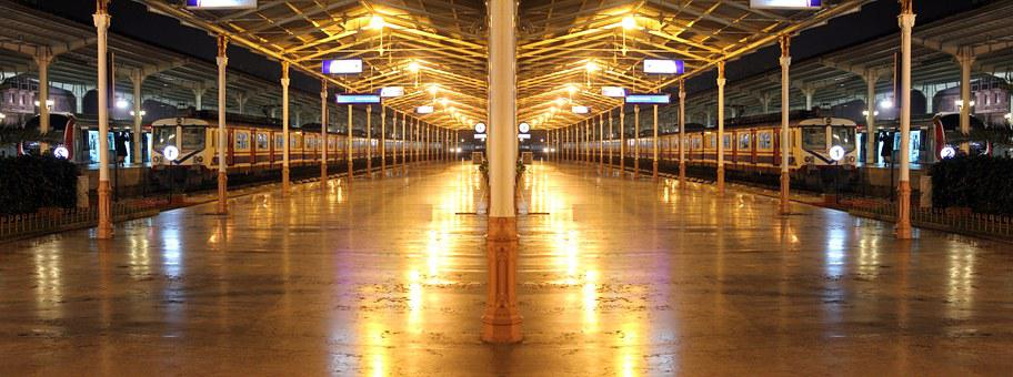 Train, Train Station, Empty, Station, Travel, Railway
