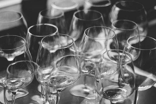 Black And White, Restaurant, Alcohol, Drinks, Glass