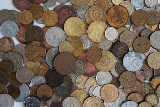 Coins, Handful, Russia, Ruble, Kopek, Money
