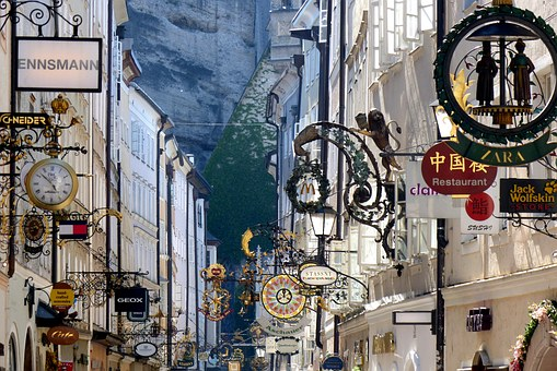 Business Signs, Guild Signs, Getreidegasse, Salzburg