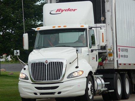 Semi, Driving, Truck, Trailer, Industry, Semi-truck