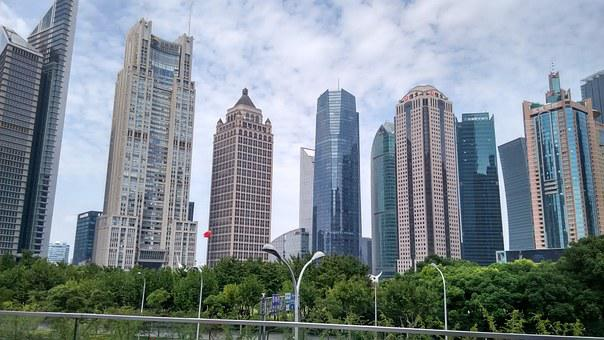 Shanghai, China, Pudong, City, Modern, Architecture