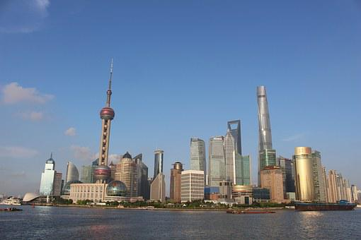 Shanghai, City, Day, Modern, Architecture, Cityscape