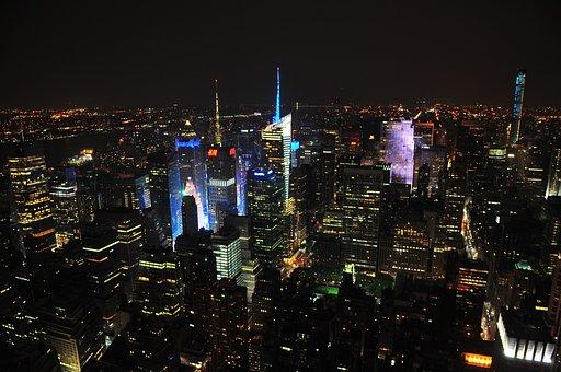 City, Night, Lights, Night City, Urban, Sky, Skyline