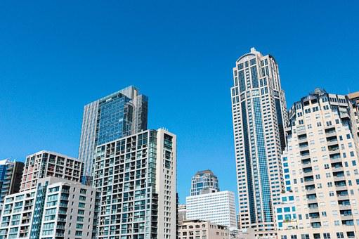 Buildings, Skyscrapers, City, Downtown, Architecture