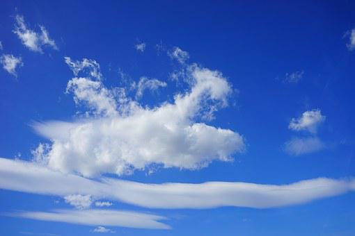 Clouds, Sleet, Cloud Formation, Sky, Summer Day, Blue