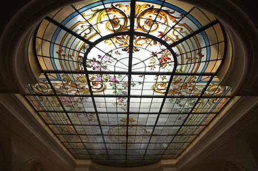 Ceiling, Stained Glass Windows, Ceiling Window