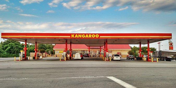 Gas Station, Kangaroo, Convenience Store, Store