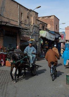 Morocco, Moroccan, Medina, Street, Markets, Trading