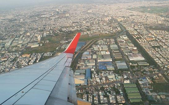 Plane, Wing, Aircraft, On A Business Trip, Travel