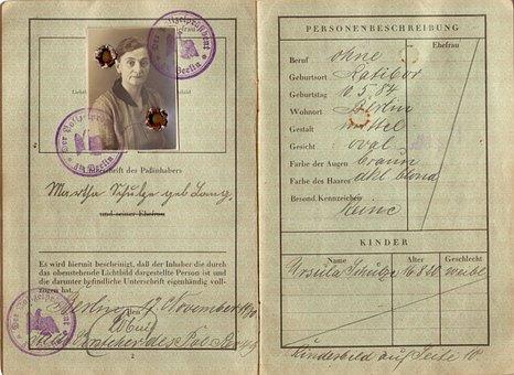 Passport, Old, Vintage, 1930, Deusches Rich, Retro