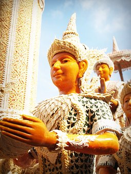 Thailand, Decoration, Carvings, Form, Wax, Soft