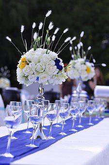 Wedding, Table Flowers, Western-style Dining Area