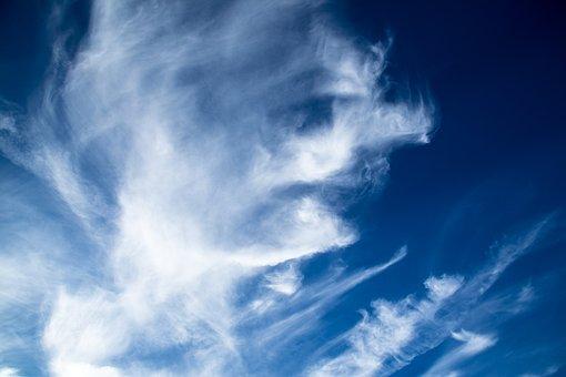 Clouds, Cirrus, Blue, White, Cloudscape, Sky