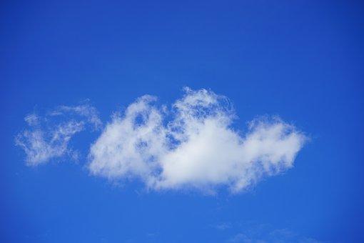 Schäfchenwolke, Clouds, Sky, Summer Day, Blue, White