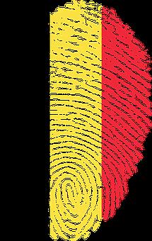 Belgium, Flag, Fingerprint, Country