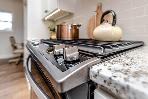 Kitchen, Oven, Pot, Cooking, Stove, Brown Kitchen