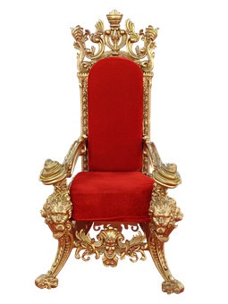 Throne, Chair, Seat, Royal