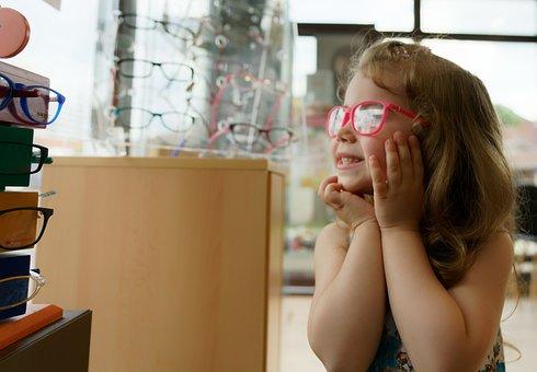Eyeglasses, Child, Kid, Girl, Glasses, Happy, Cute