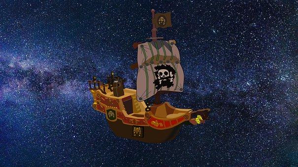 Aircraft, Airship, Float, Fantasy, Pirate, Ship