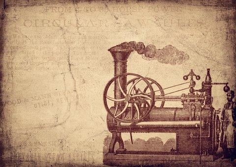 Vintage, Steam Engine, Steam, Machine, Motor, Patent