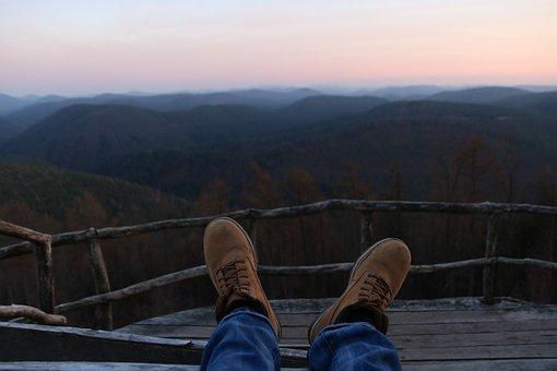Shoe, Landscape, Hiking, Nature, People, Man, Walk