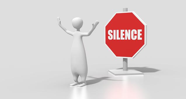 Silence, Sign, Character, Cartoon, Gesture, Quiet, Hush