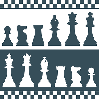 Chess, Parts, Silhouettes, Figures, Puzzle, Strategy