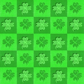 Fabric, Shamrocks, Clovers, St Patrick's Day, Green