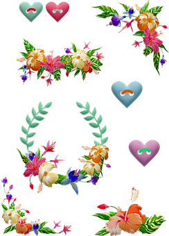 Tropical Flowers, Wreaths, Floral Corner, Buttons