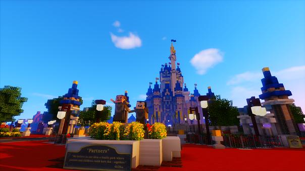 Minecraft, Palace Network, Magic Kingdom
