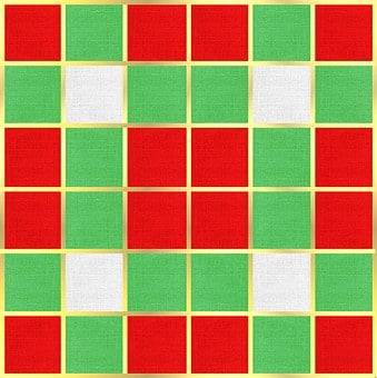 Christmas, Fabric, Textile, Red, Green, Gold, White
