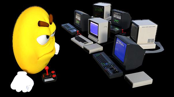 Emoji, Smiley, Sysadmin, Computers, 8bit, Retro, Atari