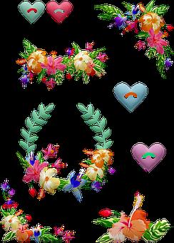 Tropical Flowers, Wreaths, Floral Corner
