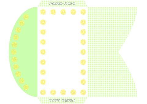 Envelope, Chrysanthemum Flowers, Yellow, Green, White