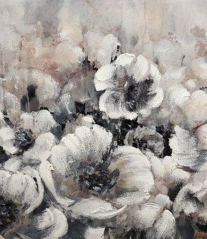 Black And White, Open Flower, Gray