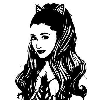 Girl, Cat Ears, Singer, Woman, Illustration, Retro, Art