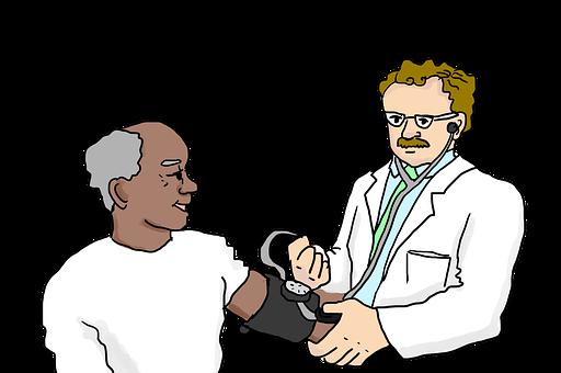 Doctor, Blood Pressure, Stethoscope, Medical Checkup