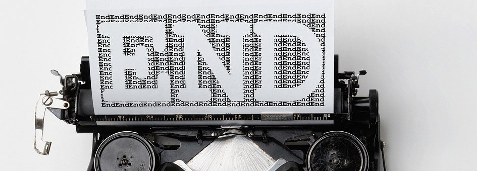 Typewriter, End, Font, Off, Final, Retro