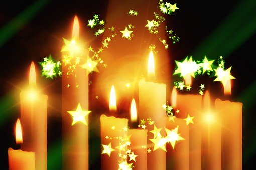 Candles, Christmas, Festival, Greeting Card