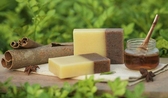 Handmade Soap, Honey, Cinnamon, Honey Cinnamon Soap