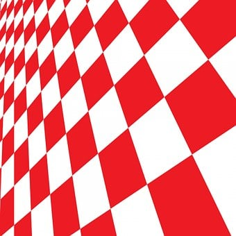 Checkered, Background, Abstract, Red, White, Design
