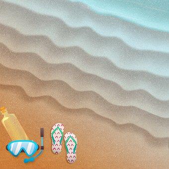 Aerial View Of Beach, Beach, Sand, Snorkel