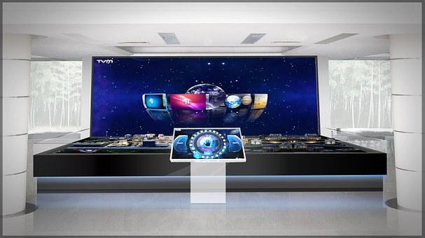Sandbox, Big Screen, Tv, The Front Desk