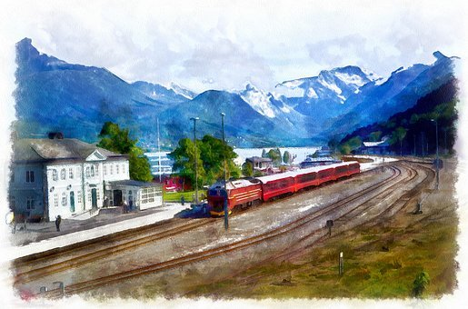 Norway, Andalsnes, Mountains, Fjords, Ruama, Railway