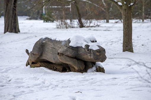 Snow, Regent'S Park, London, Park, City