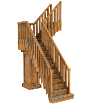 Gothic Stairs, Old, Wooden, Library, Interior, Vintage