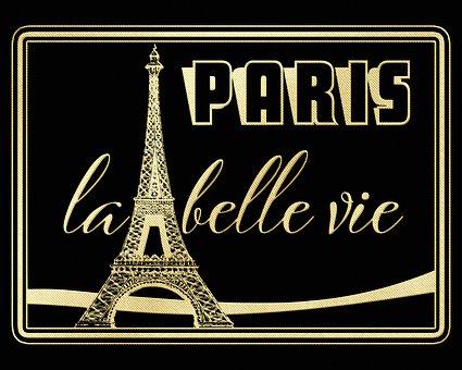 Paris Background, Eiffel Tower, La Belle Vie, Card