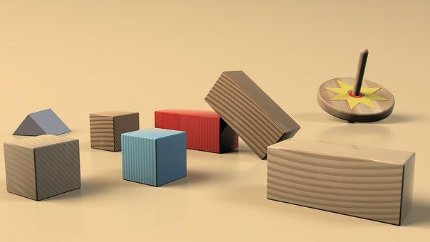 Building Block, Wood, Building Blocks, Play